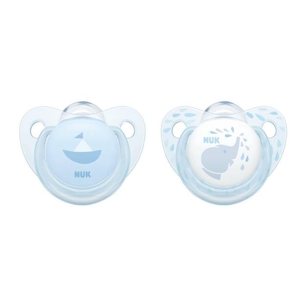 NUK: Silicone Soother - 6-18 Months (2 Pack) - Baby Blue