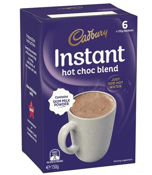 Cadbury Instant Hot Chocolate 6 x 25g pack