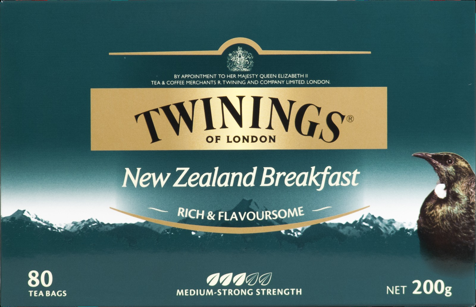 New zealand brands of tea -  Twinings New Zealand Breakfast Tea Bags 80 Bags Image