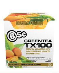 BSC Green Tea TX100 - Mango Fusion (60x3g)