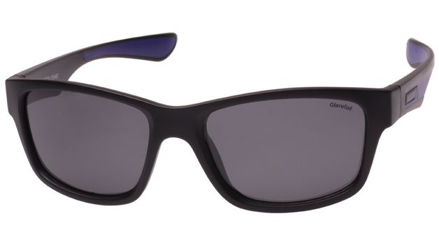 Glarefoil: Aldridge Sunglasses - Black + Smoke Lens