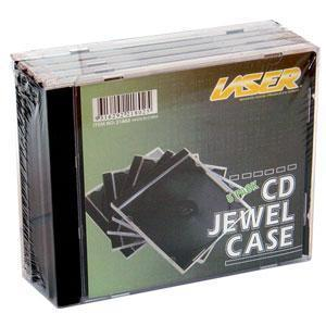 Laser 5 Pack CD/DVD Single Jewel Cases