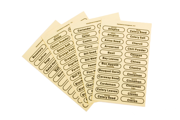 Spice Labels - Clear