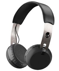 Skullcandy Grind Wireless Headphones w/ Mic - Black/Chrome/Black