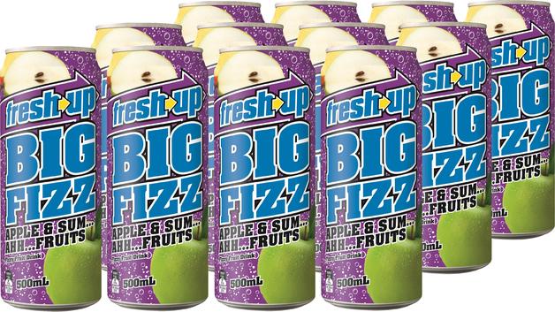 Fresh Up Big Fizz Apple & Sum Ahh Fruits 500ml x12
