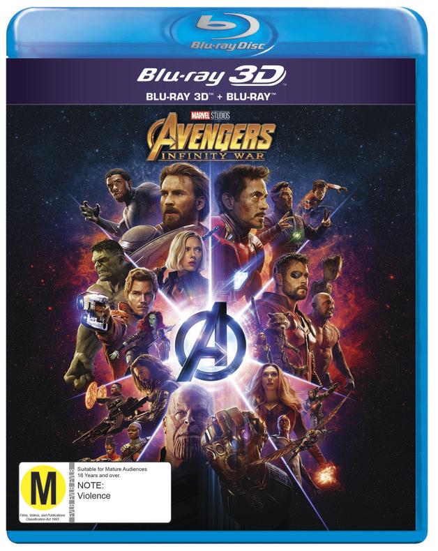 Avengers: Infinity War on 3D Blu-ray