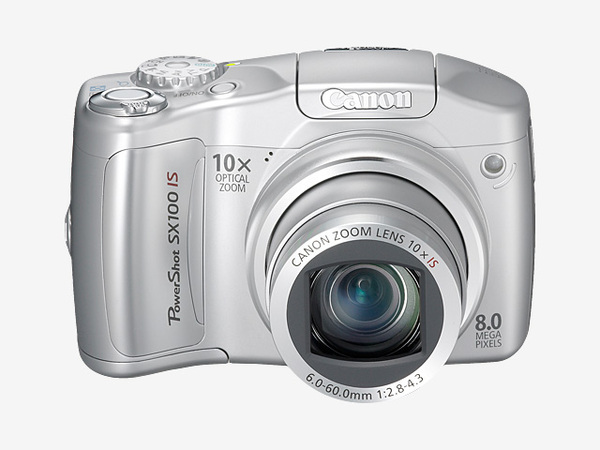 Canon SX100 IS 8.0Mp 10X Optical Dig Camera Silver