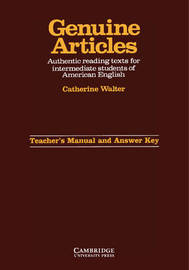 Genuine Articles Teacher's manual with key by Catherine Walter