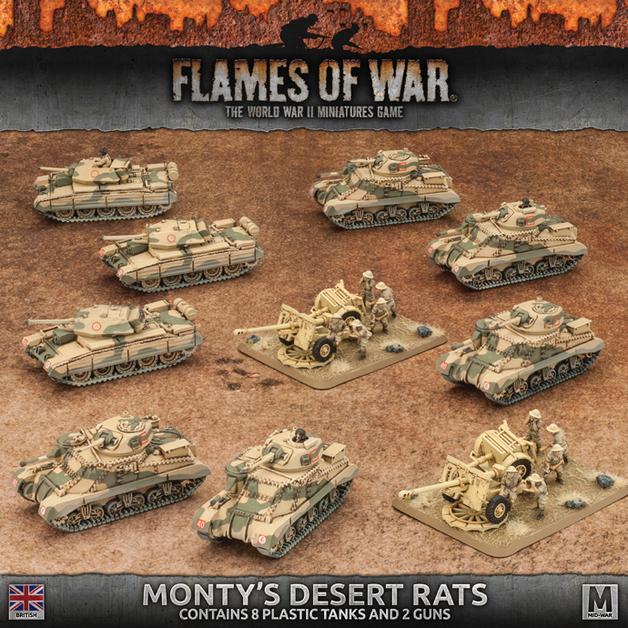 Flames of War: Monty's Desert Rats - Starter Army Box