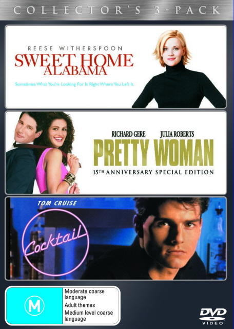 Sweet Home Alabama / Pretty Woman / Cocktail (3 Disc Set) on DVD image