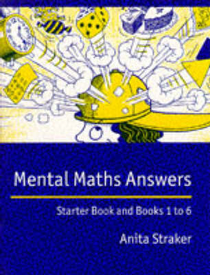 Mental Maths Answer book by Anita Straker image