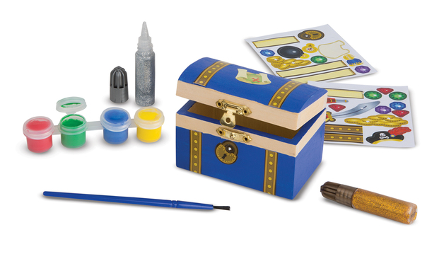 Melissa & Doug: Decorate Your Own - Pirate Chest