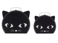 Black Cat Suitcases (Set Of 2)