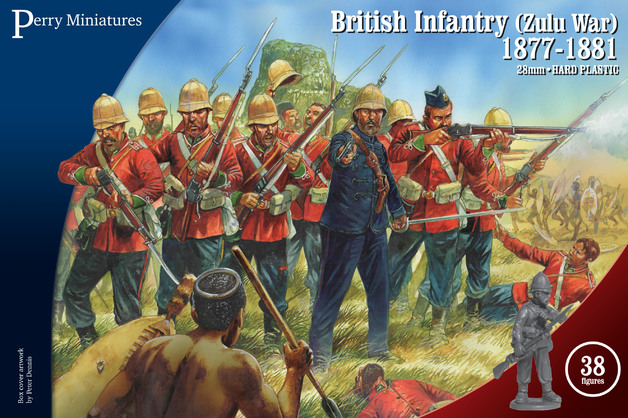 Perry Miniatures: British Infantry 1877-81 Zulu War (38pc)