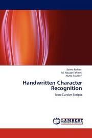 Handwritten Character Recognition by Saima Farhan