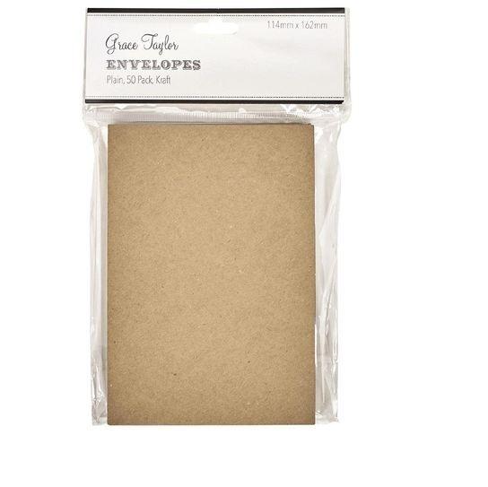 Grace Taylor Envelopes - Kraft (50 Pack)