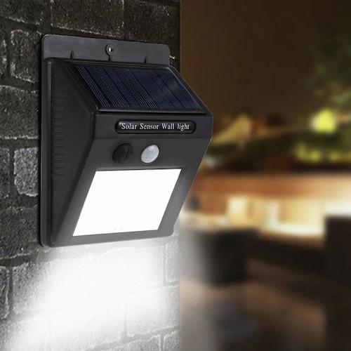 Solar Motion Sensor Outdoor LED Wall Light