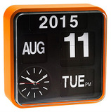 Karlsson Mini Flip Calendar Wall Clock - Orange