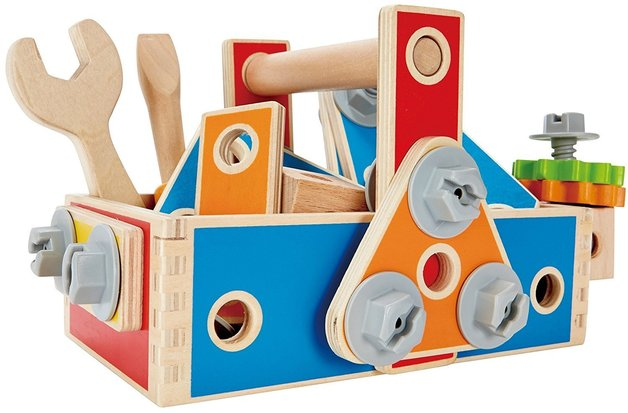 Hape: Handyman Go To Caddy - Wooden Tool Box Set