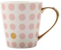 Maxwell & Williams Aurora Mug Gold Handle 300ML Spot Pink