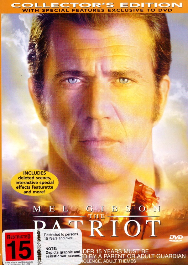 Patriot, The (Mel Gibson) on DVD image
