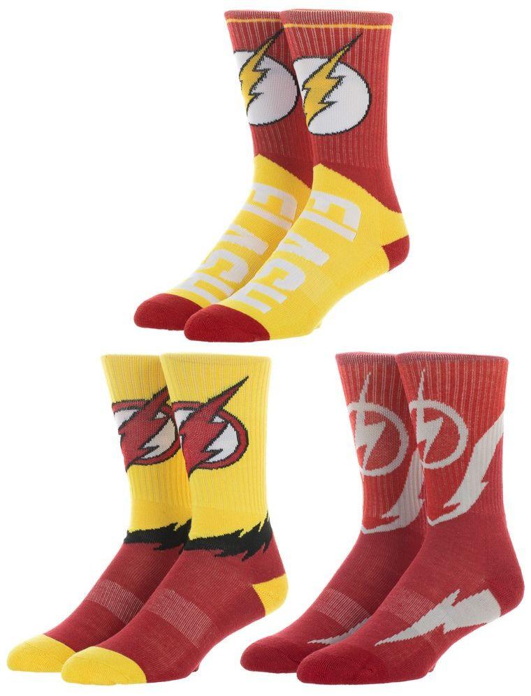 DC Comics: The Flash - Athletic Crew Socks (3 Pack) image