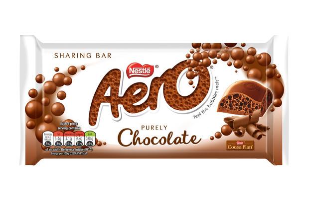 Nestle Aero Milk Chocolate Block 100g