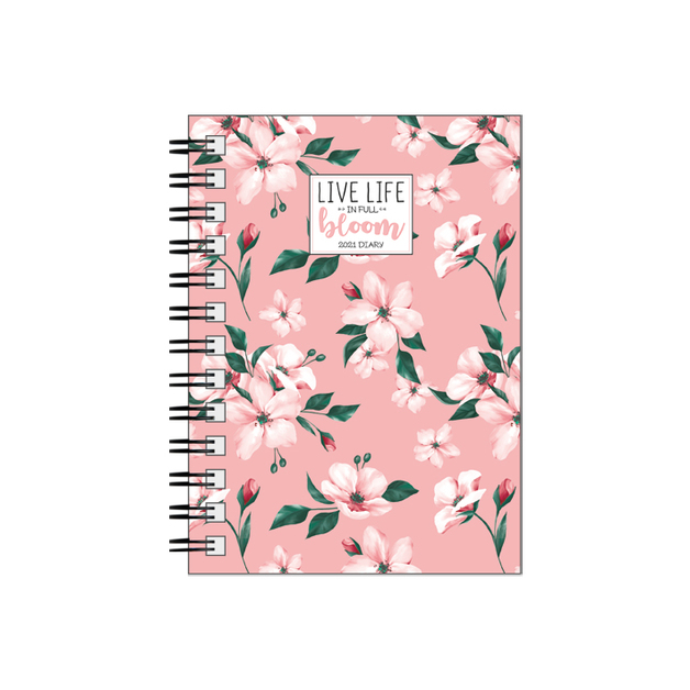 Legami: Small Weekly 12 Month 2021 Diary Spiral Bound - Flowers (8.5 x 13cm)