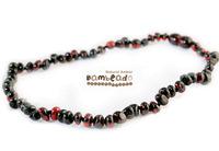Bambeado Amber Necklace Baby Bud - Dark Cherry image