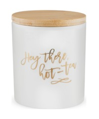 Pinky Up: Ceramic Tea Canister - Hey There, Hot-Tea
