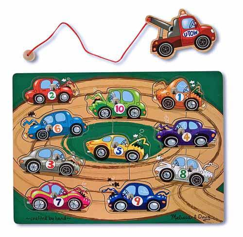 Melissa & Doug: Magnetic Wooden Tow Truck Puzzle image