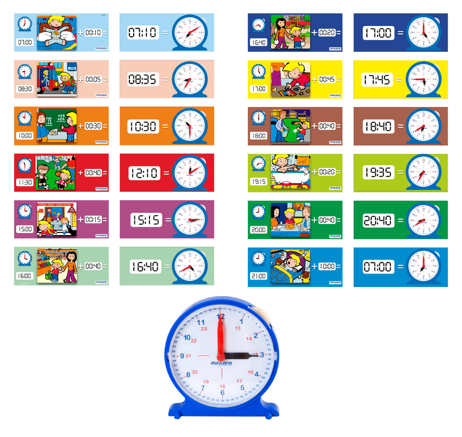 Miniland Activity Timer Set (13 pcs) image