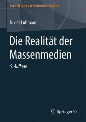 Die Realitat Der Massenmedien by Niklas Luhmann image