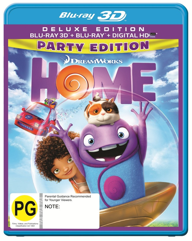 Home on Blu-ray, 3D Blu-ray