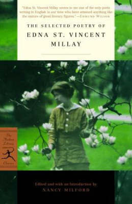 Mod Lib Selected Poetry Of Edna St Vincent by Edna St.Vincent Millay