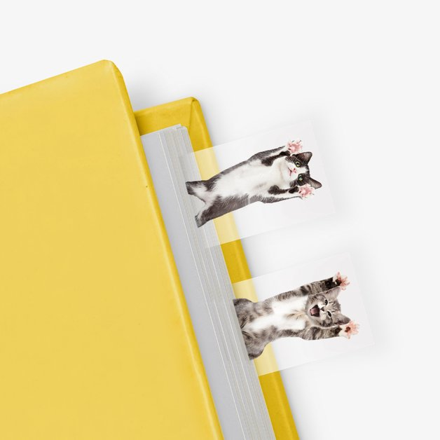 Cat in a Book - Themed Page Markers (100 sheets)