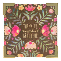 Natural Life: Corner Magnet - Thankful Grateful