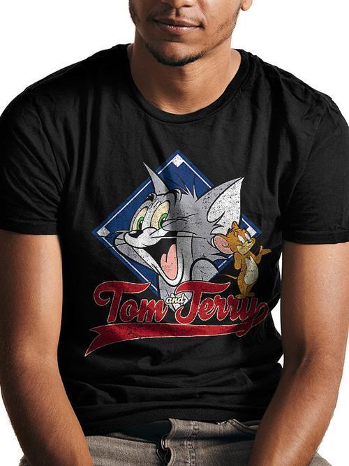 Tom and Jerry: TJ Varsity Tee - Medium