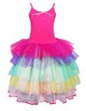 Pink Poppy: Carnival Ruffle Dress (Size 5/6) - Hot Pink