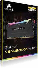 16GB (2 x 8GB) Corsair Vengeance DIMM DDR4 3200MHZ - Black image