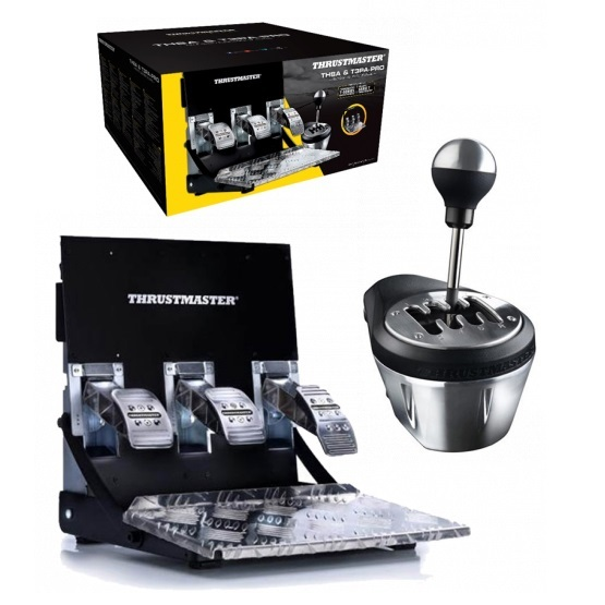 Thrustmaster TH8A Shifter & T3PA PRO Pedal Set Bundle (PS4,PS3, PC & Xbox One) for PS4