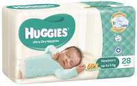 Huggies Nappies - Newborn - Up to 5kg (28)