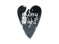 Eveline Merry & Bright Heart Decoration (15cm)