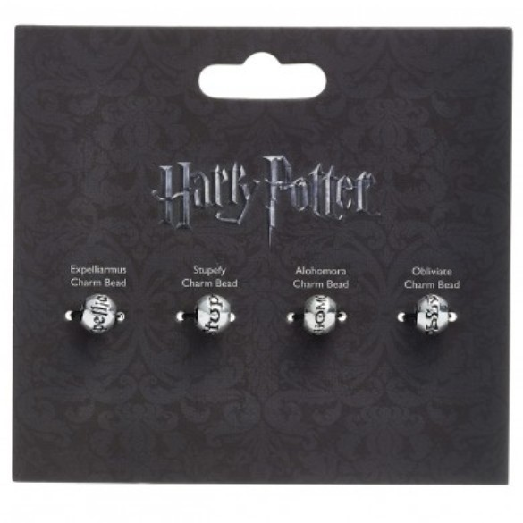 Harry Potter: Silver Plated Spell Beads - Pk 4 image