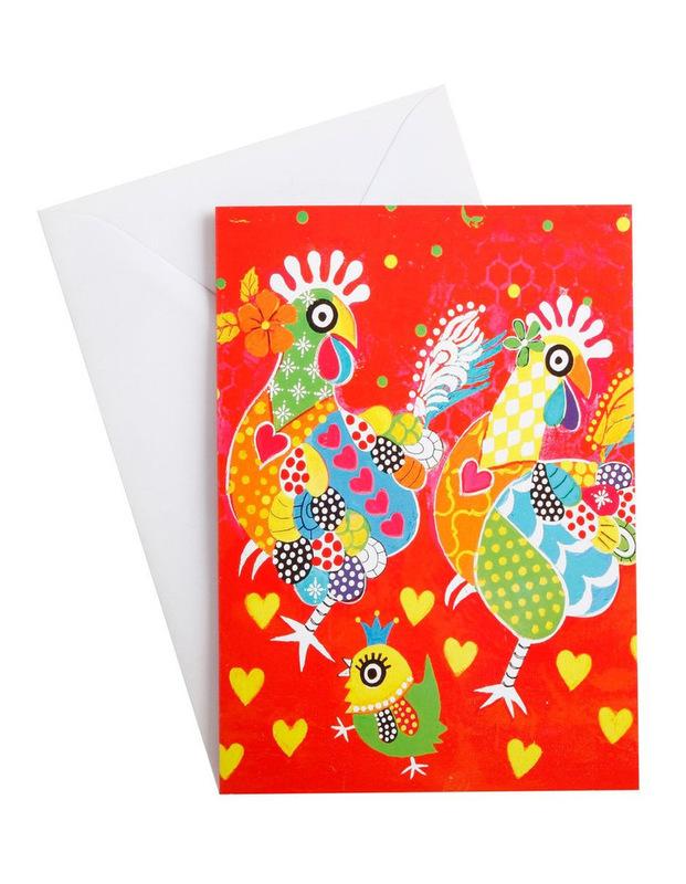 Maxwell & Williams: Love Hearts Greeting Card - Chicken Dance
