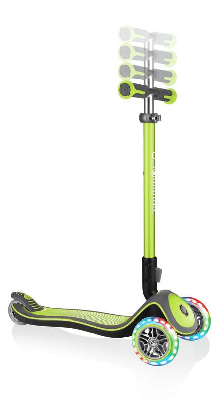 Globber Elite Deluxe Lights - Lime Green