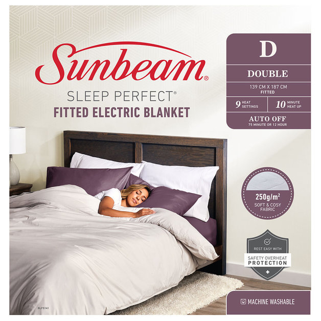 Sunbeam: Sleep Perfect Double Fitted Heated Blanket