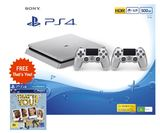 PS4 Slim 500GB Console - Silver for PS4