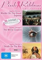 Murder On The Orient Express / The Mirror Crack'd / Death On The Nile (Agatha Christie's) - Pink Ribbon Collection (3 Disc Set)  on DVD