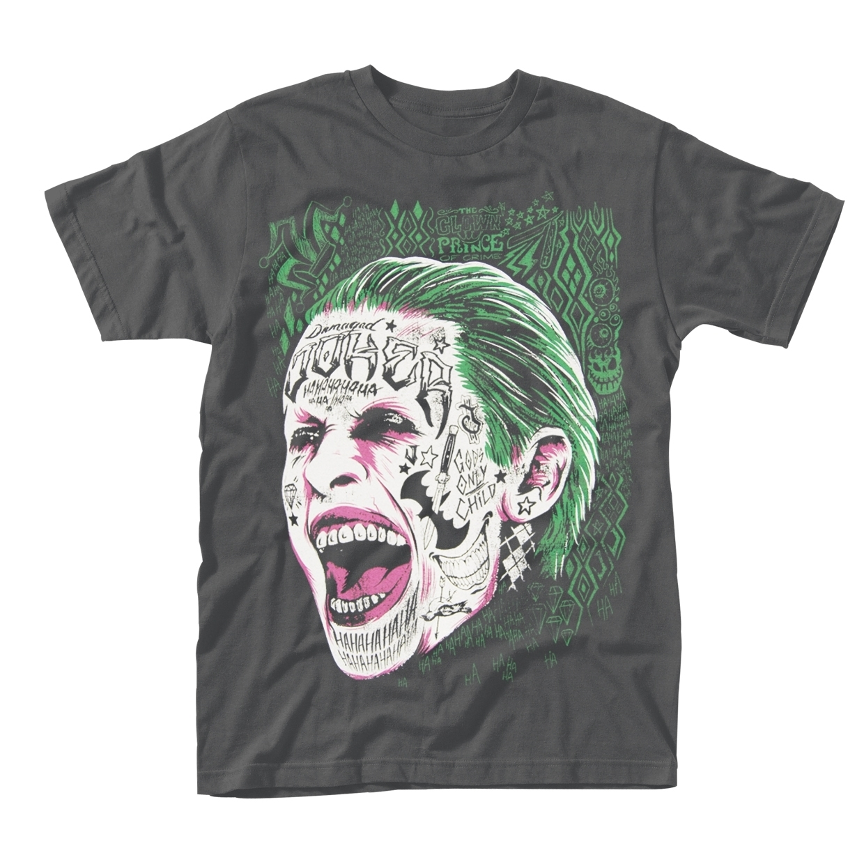 Suicide Squad Joker Face T-Shirt (Small) image